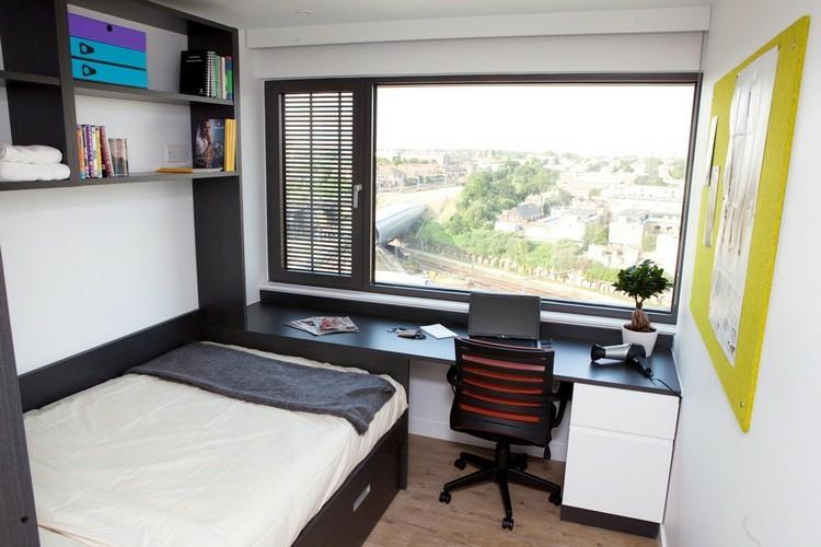 mesas de escritorio para el dormitorio del adolescente. Black Bedroom Furniture Sets. Home Design Ideas