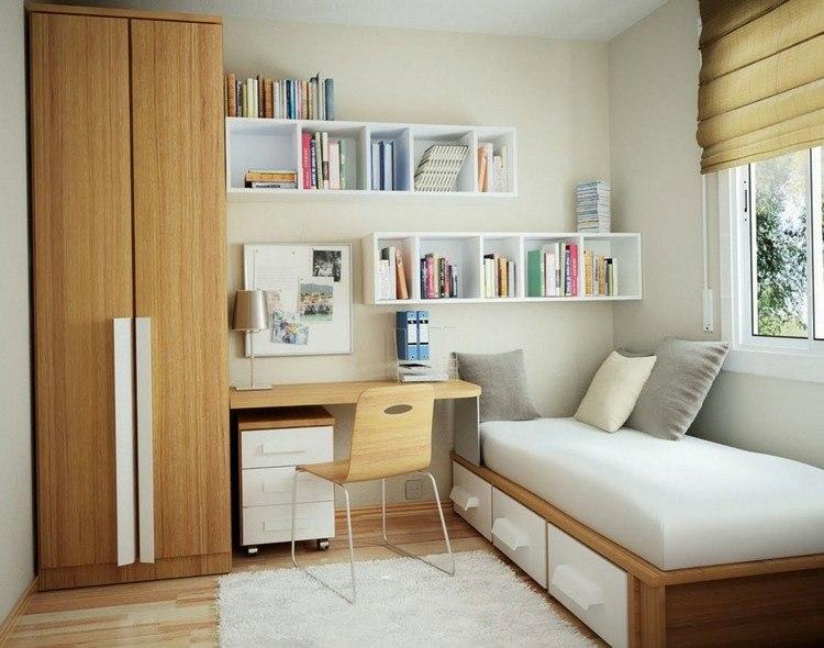 mesas de escritorio dormitorio adolescente muebles madera ideas