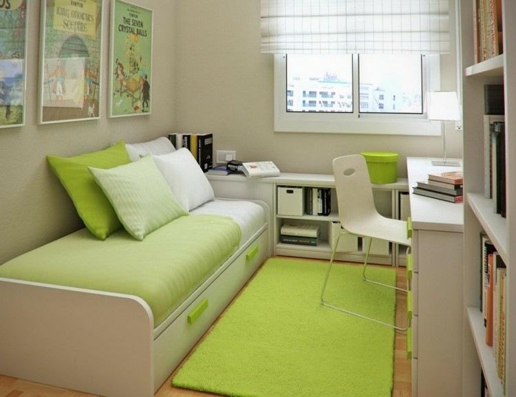 mesas escritorio dormitorio adolescente toques verde ideas