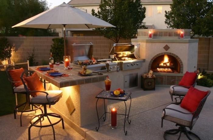 mobiliario iluminacion velas forja patio