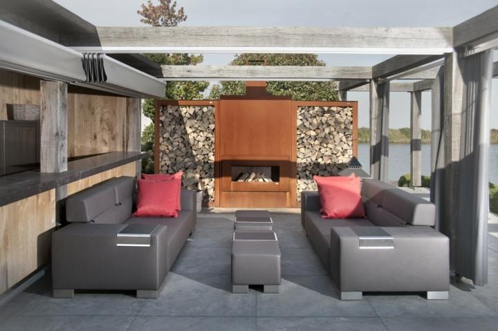 muebles estilos salones casas corten