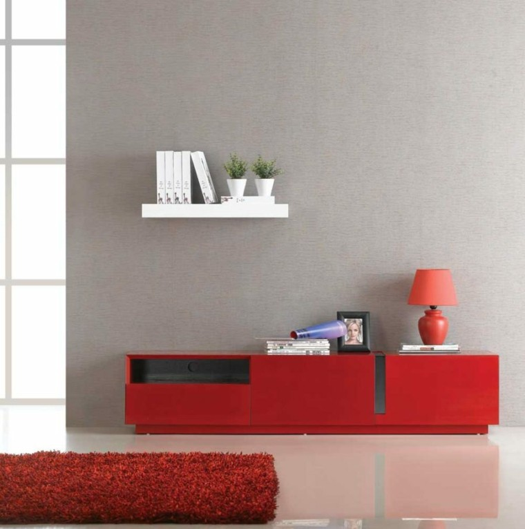 muebles tv diseno rojo moderno jm furniture ideas