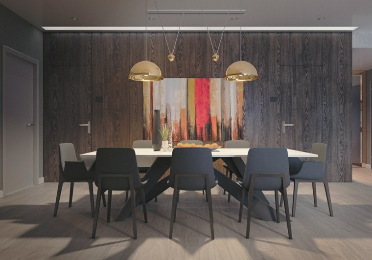 muebles comedor diseno elegante lujoso artistico decoracion oscura ideas