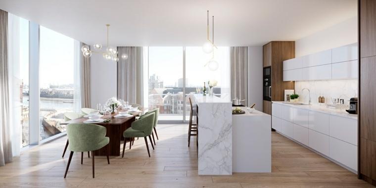 Muebles comedor con diseño elegante y lujoso
