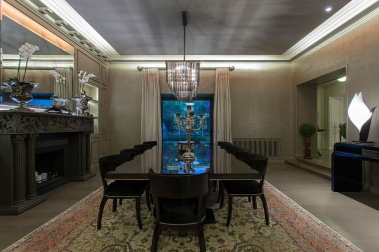 muebles comedor diseno elegante lujoso oscuro ideas