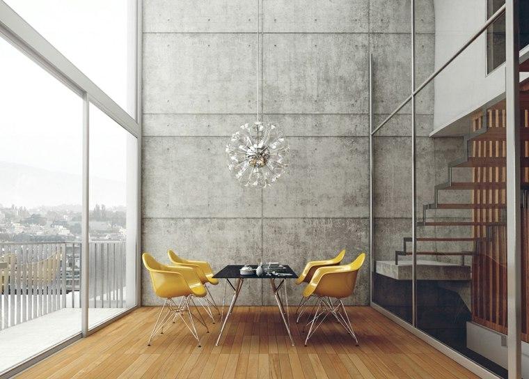 muebles comedor diseno elegante lujoso sillas amarillas ideas