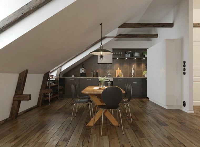 muebles comedor diseno elegante lujoso techo abovedado ideas