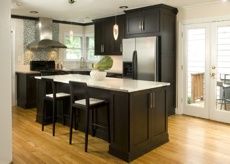 muebles de madera cocina moderna