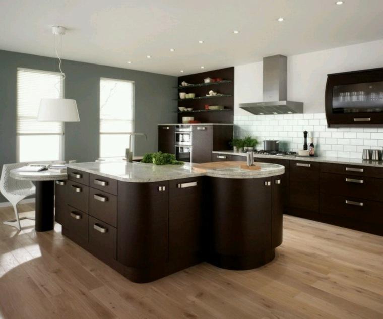 muebles de madera modernos cocina
