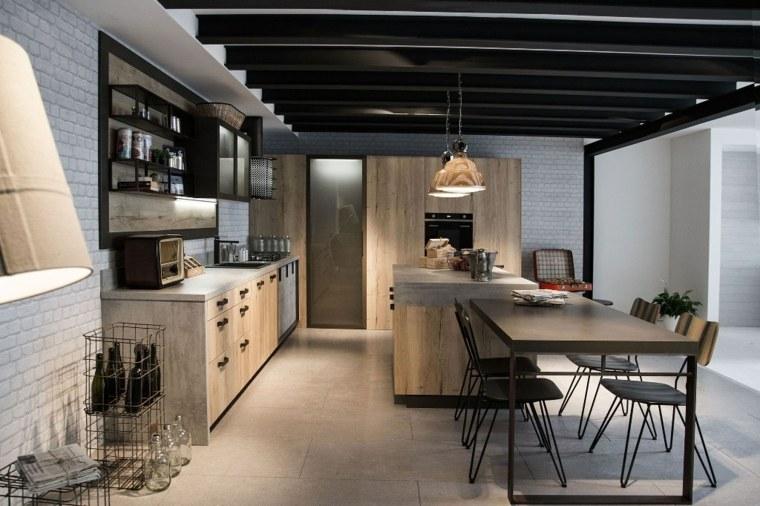 Muebles de madera maciza para la cocina for Muebles de pino macizo