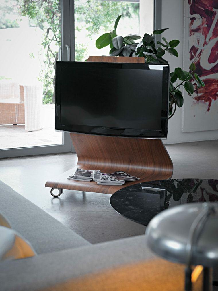 Muebles para tv con dise o moderno a la ltima - Diseno de muebles de madera ...