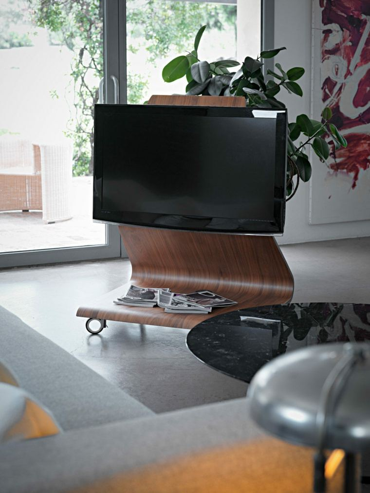 Muebles para tv con dise o moderno a la ltima for Diseno de muebles de madera