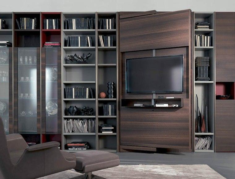 Porta tv de pared mueble modular de pared modular de - Diseno de muebles ...