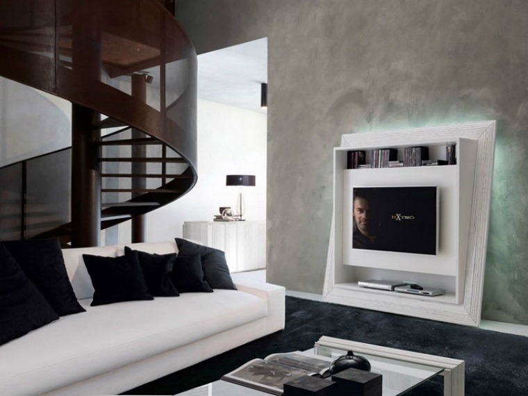 Muebles para tv en pared modernos - Muebles de salon de diseno ...