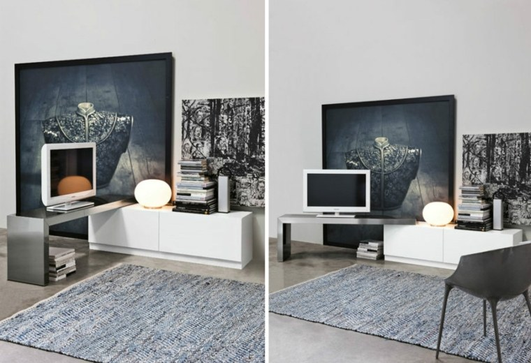 Mueble para el televisor modular lcd rack panel tv moderno living progetto mobili modular lcd - Mueble tv estrecho ...