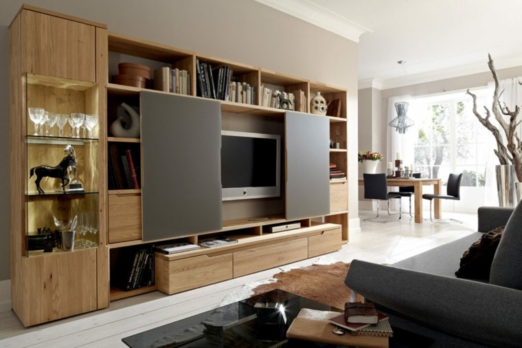 Muebles para tv con dise o moderno a la ltima for Muebles tv originales
