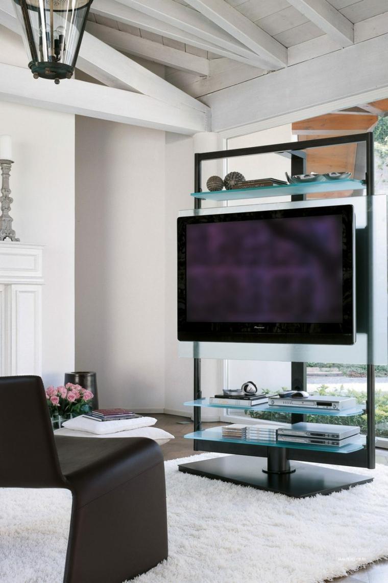 muebles salon tv estantes crsital diseno ideas with muebles salon diseo