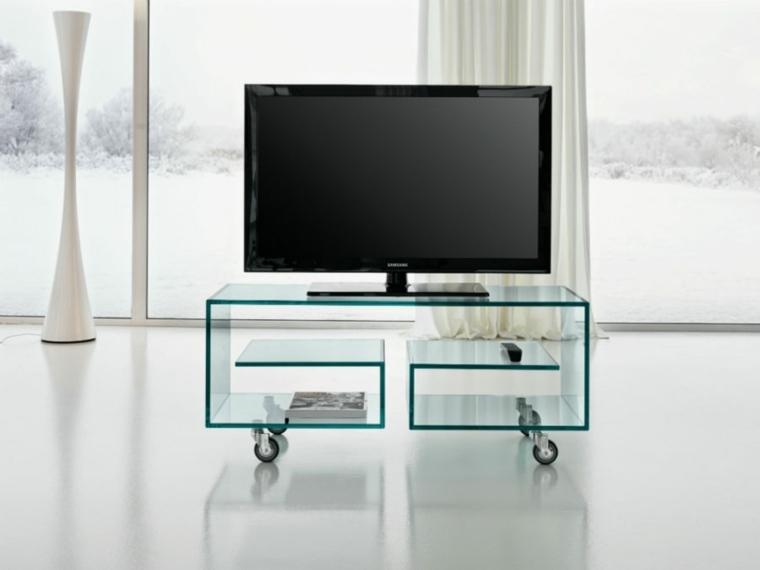 Muebles para tv con dise o moderno a la ltima - Mesas con ruedas para tv ...