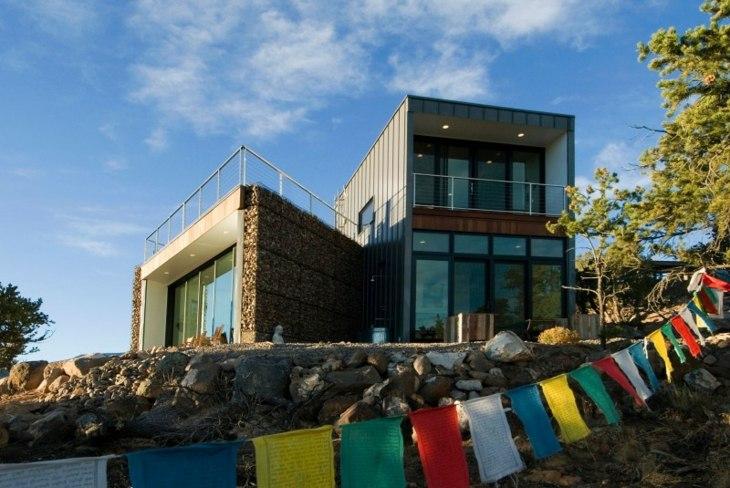 gabion walls designed house Imbue Design ideas