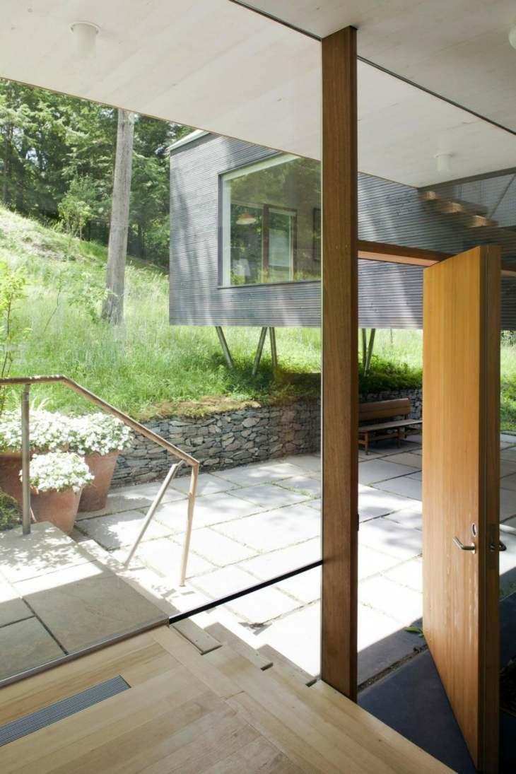 muros de gaviones casa jardin colina opciones ideas