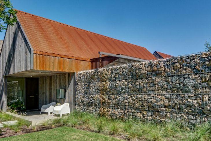 gabion walls designed by Buchanan Architecture ideas