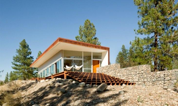 muros de gaviones perfectas casas colinas opciones ideas