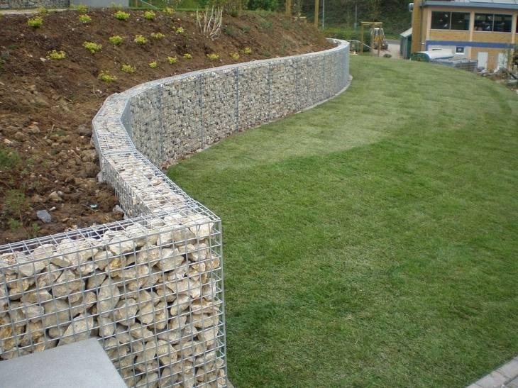 muros de gaviones perfectos jardines aterrazados ideas