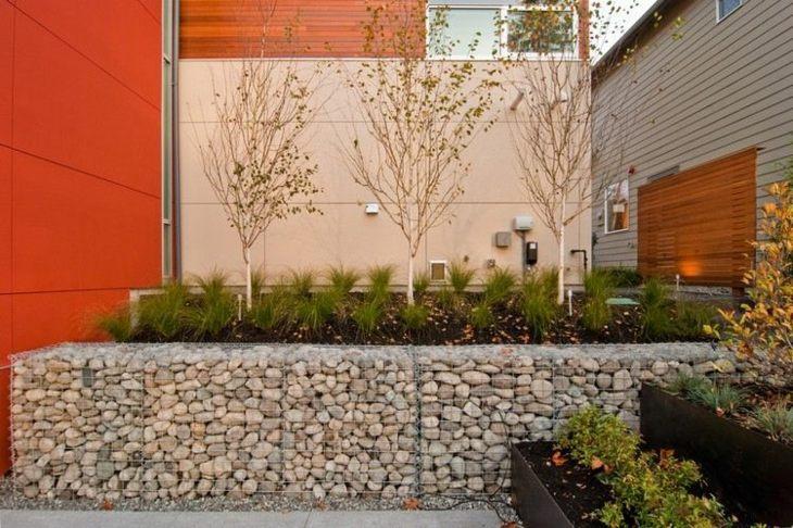 muros gaviones contencion diseno jardin opciones ideas