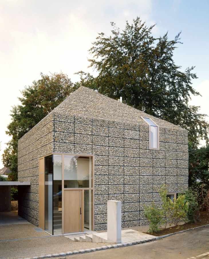 walls gabions walls roof whole house interesting architecture ideas