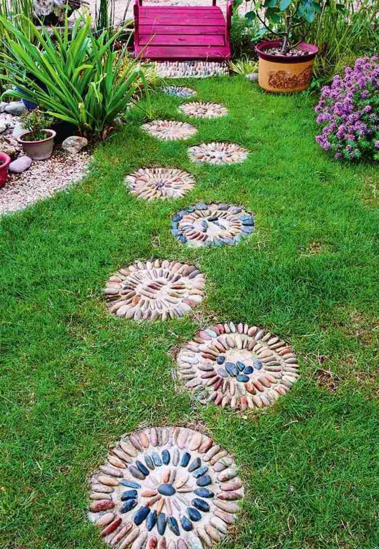 baldosas de jardín mosaicos