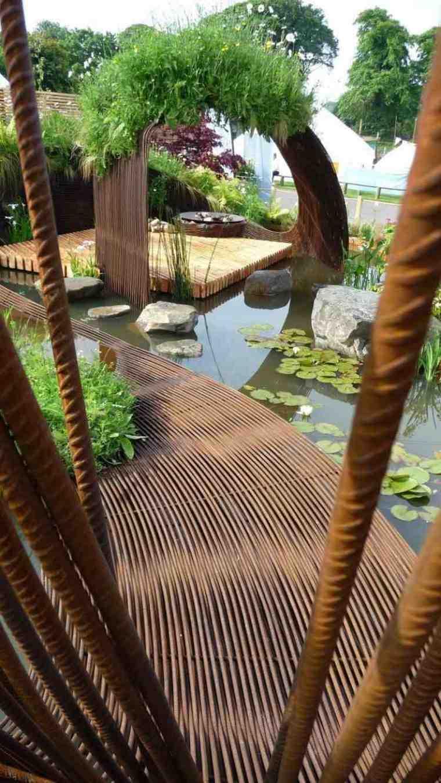 original diseno jardin estanque