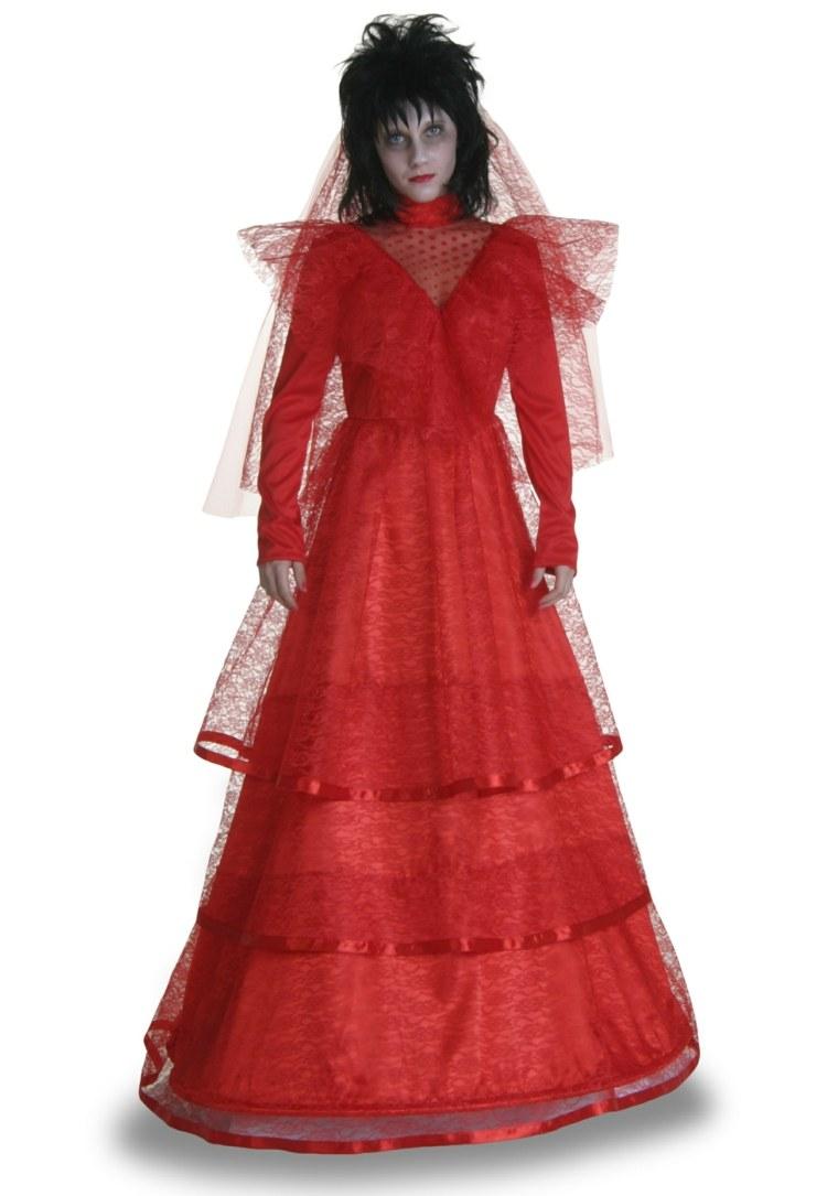 traje novia gótica rojo