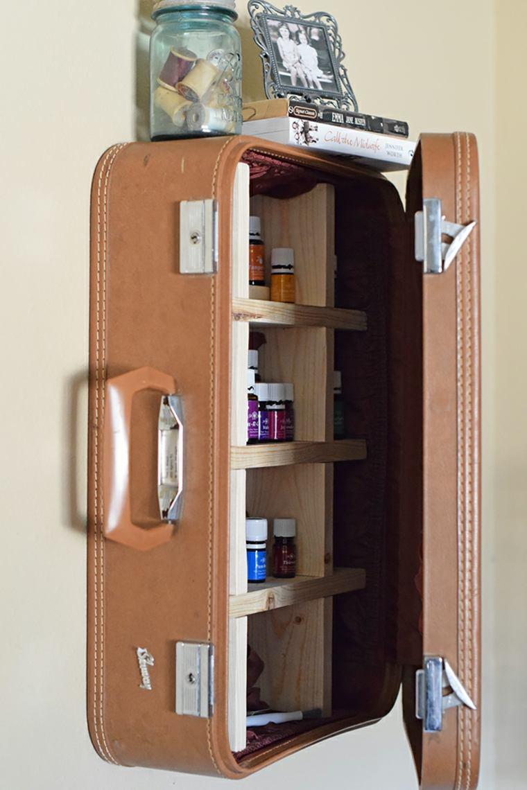 original estante maleta estilo vintage