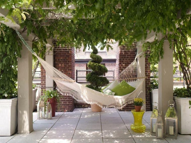original hamaca clasica crochet jardín