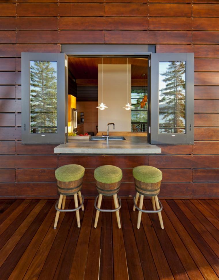 original barra bar ventana cocina