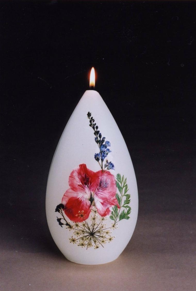original decoración vela flores
