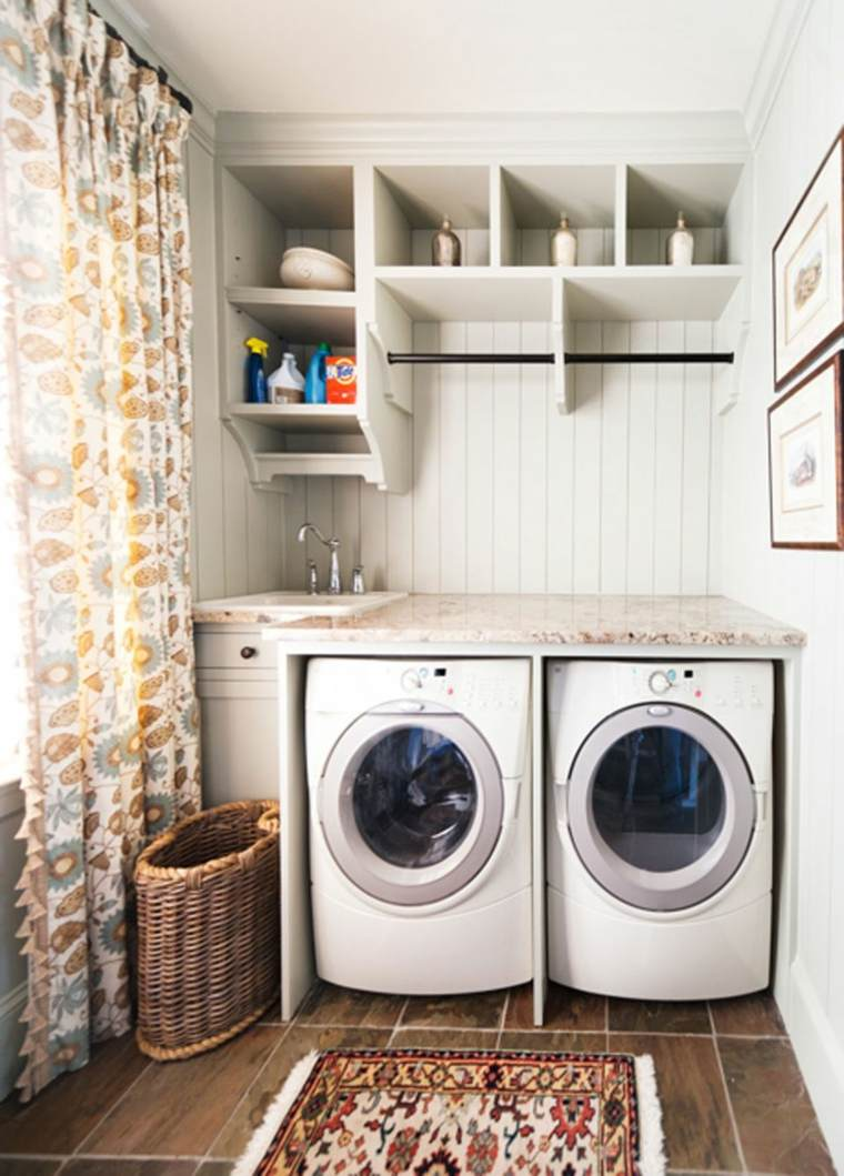 Cuarto de lavado - ideas prácticas para su organización -