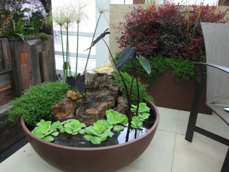 original estanque estilo zen moderno