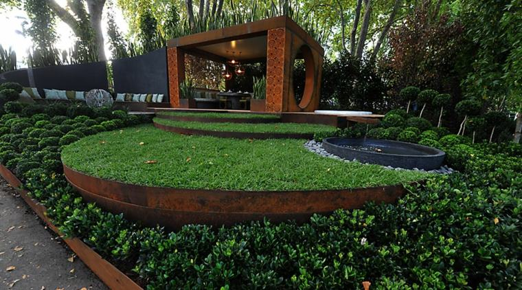 original dieño jardin moderno pergola