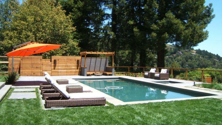 original jardin piscina moderno deco