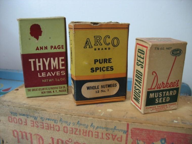 originales cajas cartón estilo retro