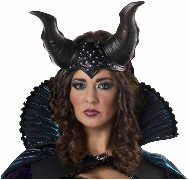 originales cuernos negros bruja Maléfica