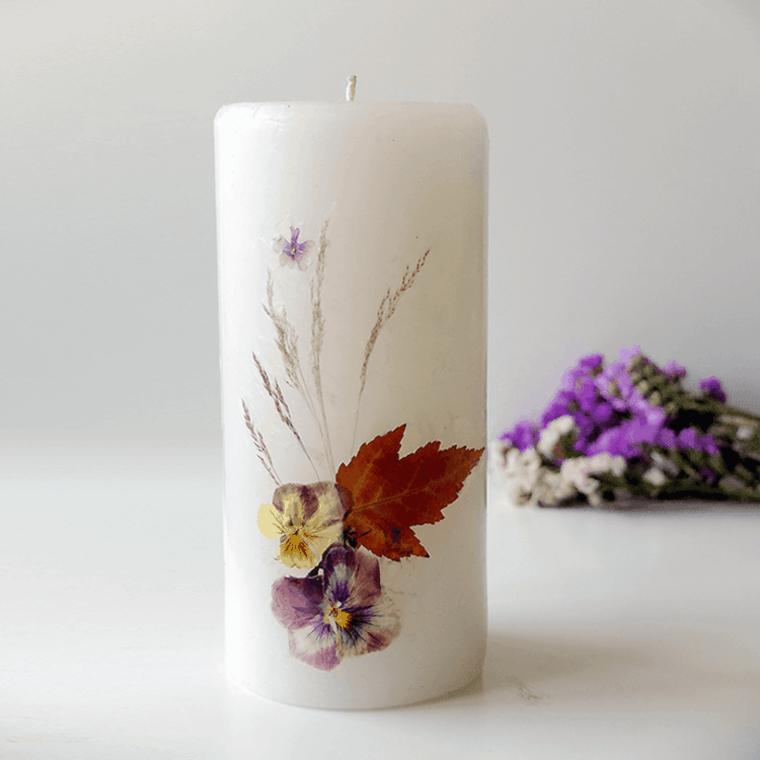 originales ideas decoracion velas flores