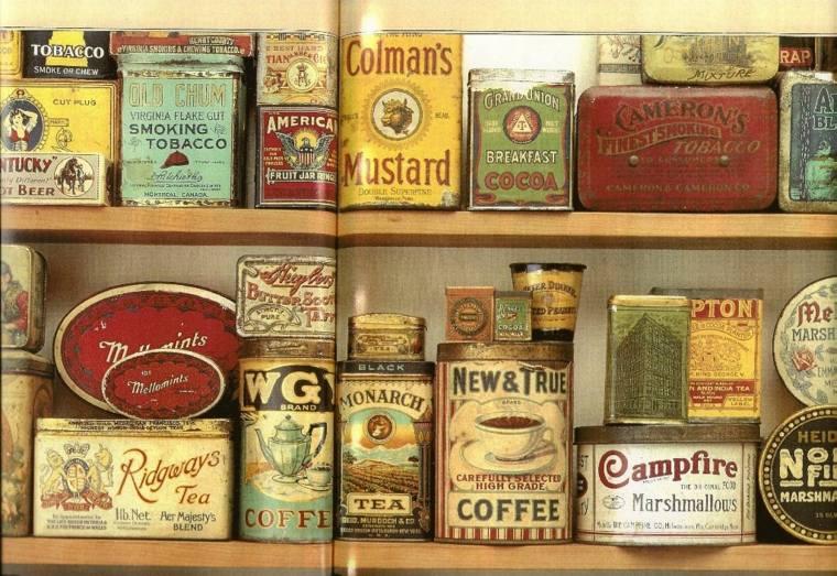 originales latas especias vintage