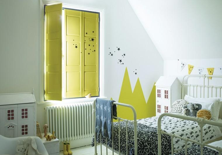 originales persianas amarillas habitacion infantil