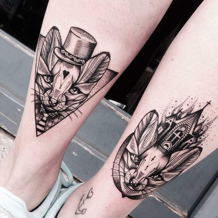 originales tatuajes cabezas gatos