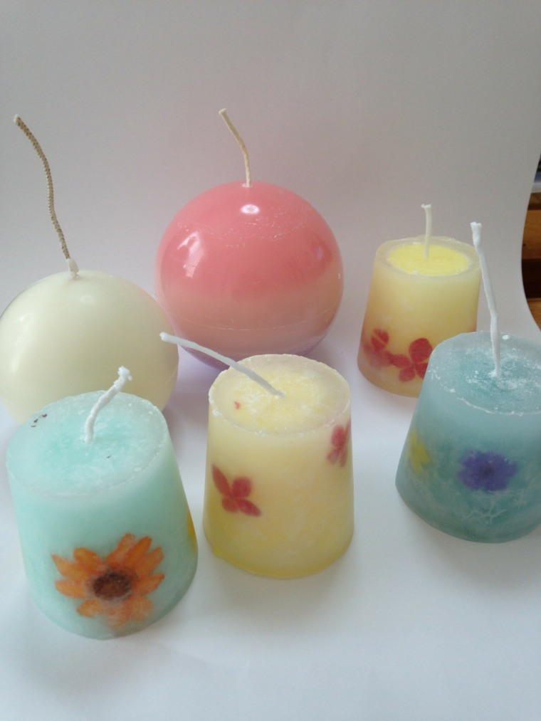 originales velas caseras decoradas flores