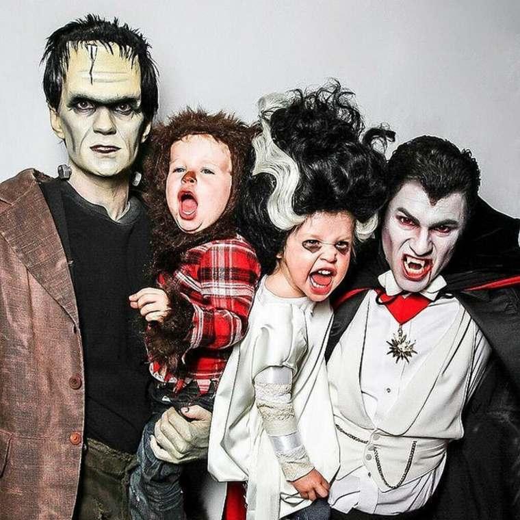 originales disfraces halloween familia monster