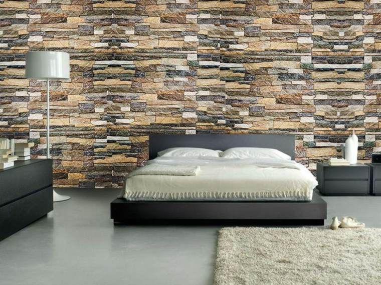 Texturas con relieves descubre las paredes en 3d for Decoracion pared piedra