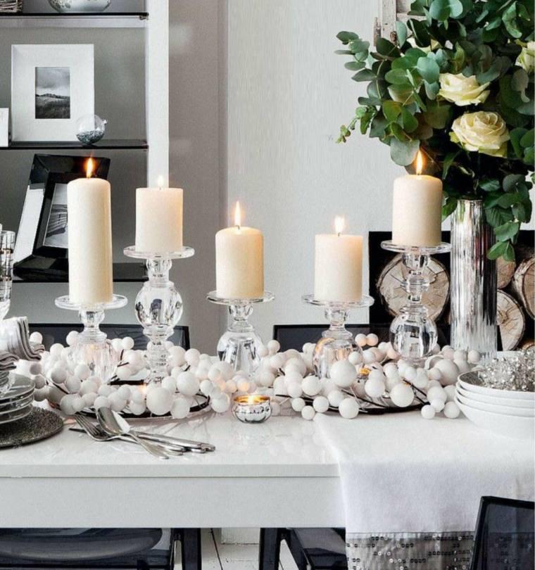 ornamentación navideña color blanco